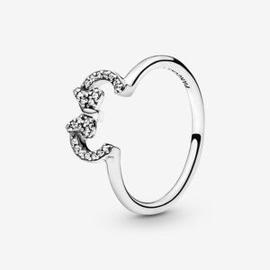 Pandora Disney Minnie Mouse Ears Silhouette  Ring